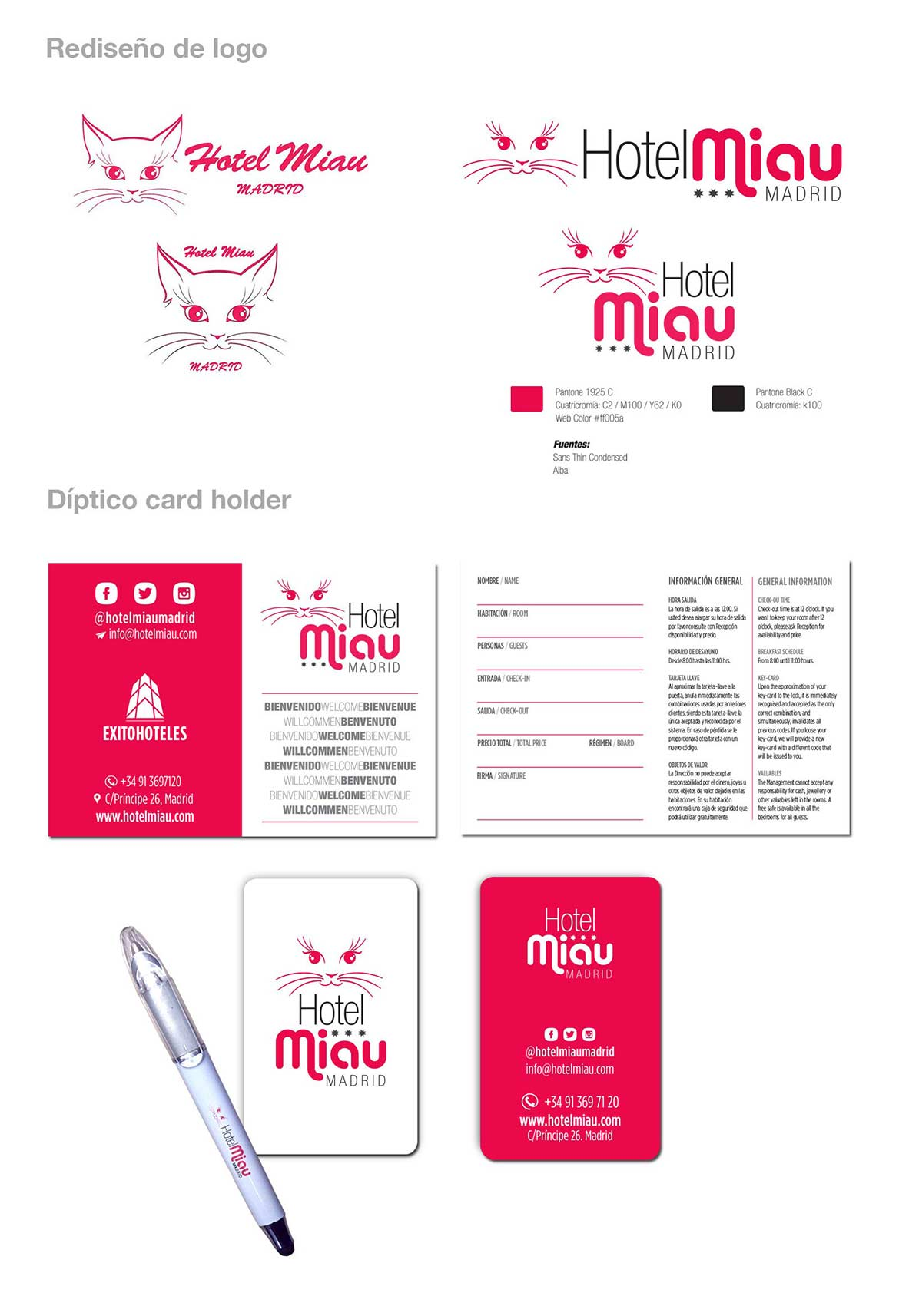 Logo + Material POP Hotel Miau Grisel Tolstow
